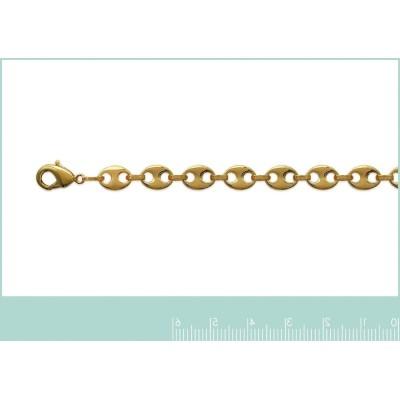 Bracelet grain de café en plaqué or 6mm