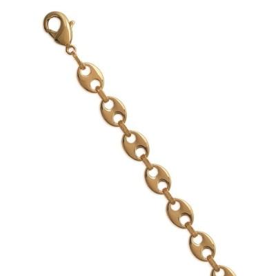 Bracelet graine café en plaqué or 6mm
