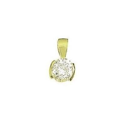 Pendentif en plaqué or pour femme, Shiny 5 mm