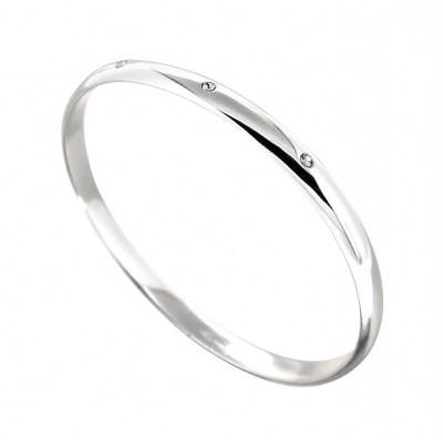 Bracelet Jonc Créateur en argent et cristal de Swarovski, Pureté