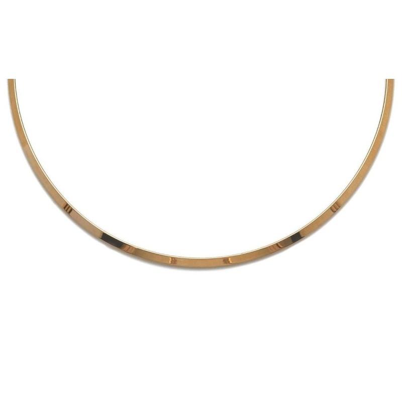 Collier esclave en plaqué or pour femme, Edwige