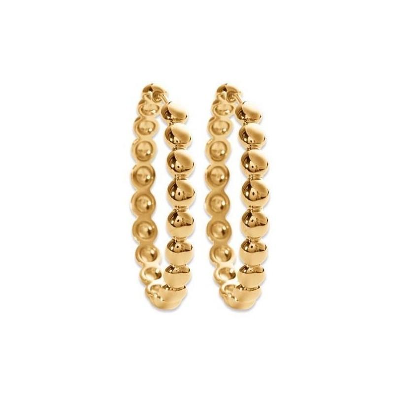 Créoles 35 mm en plaqué or, Elégance