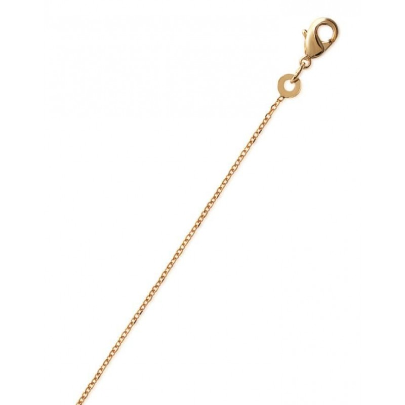 Chaîne en plaqué or 1,15 mm - Maille forçat diamantée - Lyn&Or Bijoux
