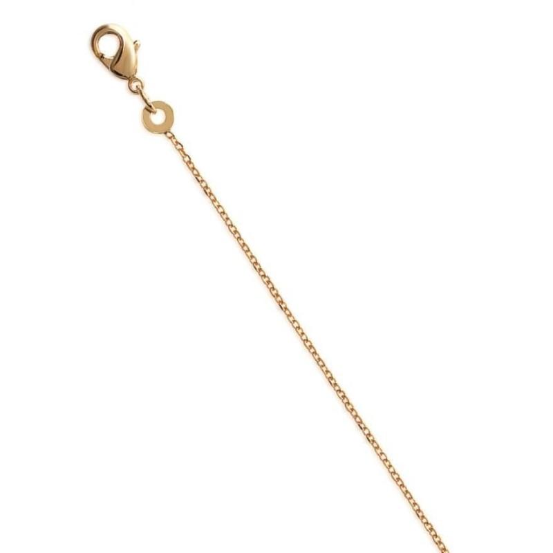 Chaîne en plaqué or 1 mm pour femme, Maille forçat limée