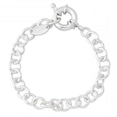 Bracelet en argent pour femme - Gourmette charms - Lyn&Or Bijoux