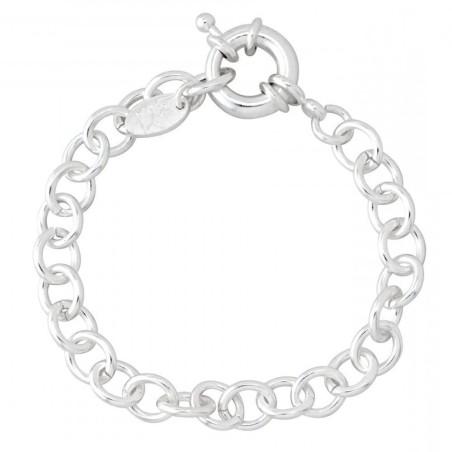 Bracelet Créateur argent, Gourmette pour charms