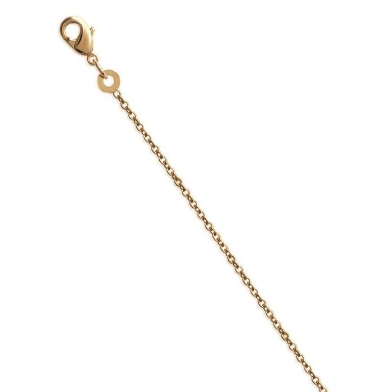 Chaîne en plaqué or 1, 45 mm pour femme, Maille forçat limée