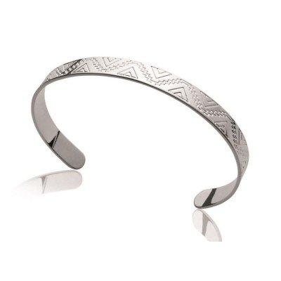 Bracelet jonc en argent rhodié pour femme - Ybela - Lyn&Or Bijoux