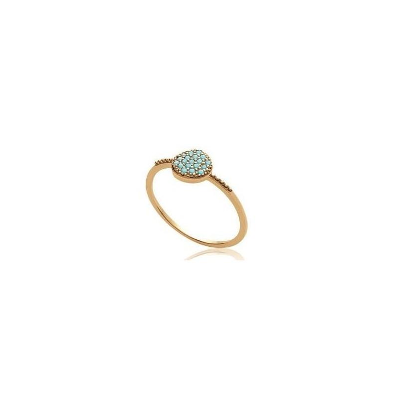 d5041a2a6aa924 Bague pour femme en plaqué or et pierre turquoise, Dina