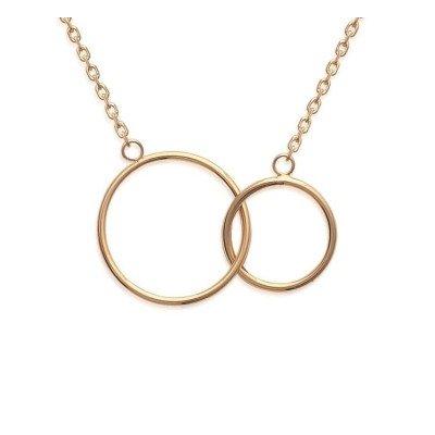 Collier femme, 2 anneaux en plaqué or - Lyn&Or Bijoux