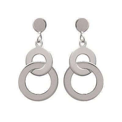 Boucles d'oreilles pour femme en argent rhodié, Adeva
