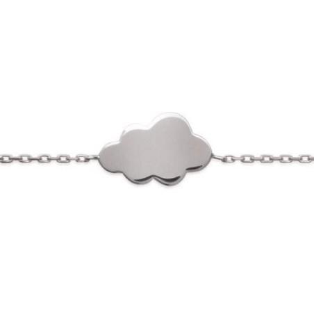 Bracelet nuage en argent rhodié 925, Kolia