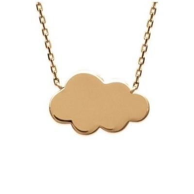 Collier nuage pour femme en plaqué or 18 carats, Kolia