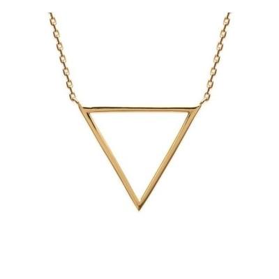 Collier triangle pour femme en plaqué or jaune, Maureen