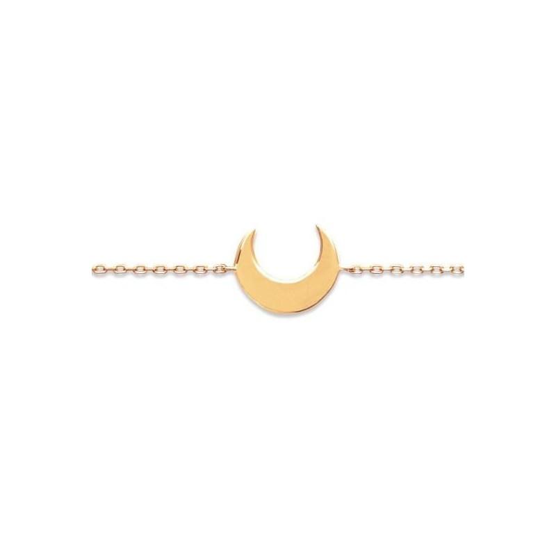 bracelet femme plaque or jaune