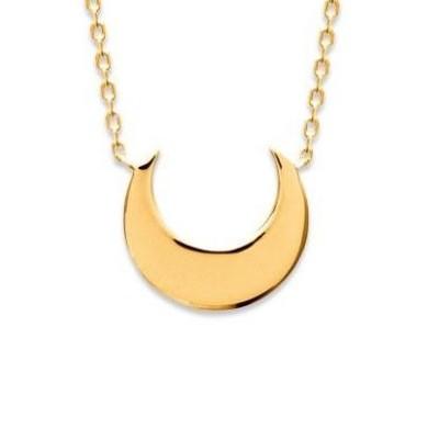 Collier Lune en plaqué or pour femme - Syva - Lyn&Or Bijoux
