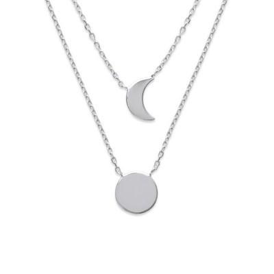 Collier Lune pour femme en argent rhodié, Ysala