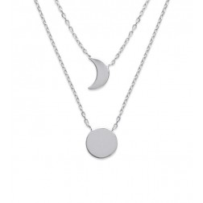 Collier Lune en argent rhodié pour femme - Ysala - Lyn&Or Bijoux