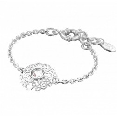 Bracelet en argent et Swarovski pour femme - Rosace - Lyn&Or Bijoux