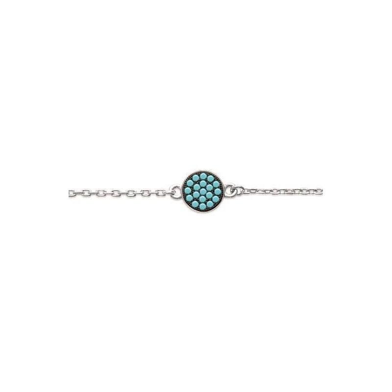 Bracelet en argent et pierre turquoise pour femme - Cassandra - Lyn&Or Bijoux