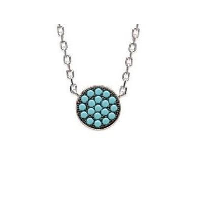 Collier pour femme en argent 925 et pierre turquoise, Cassandra