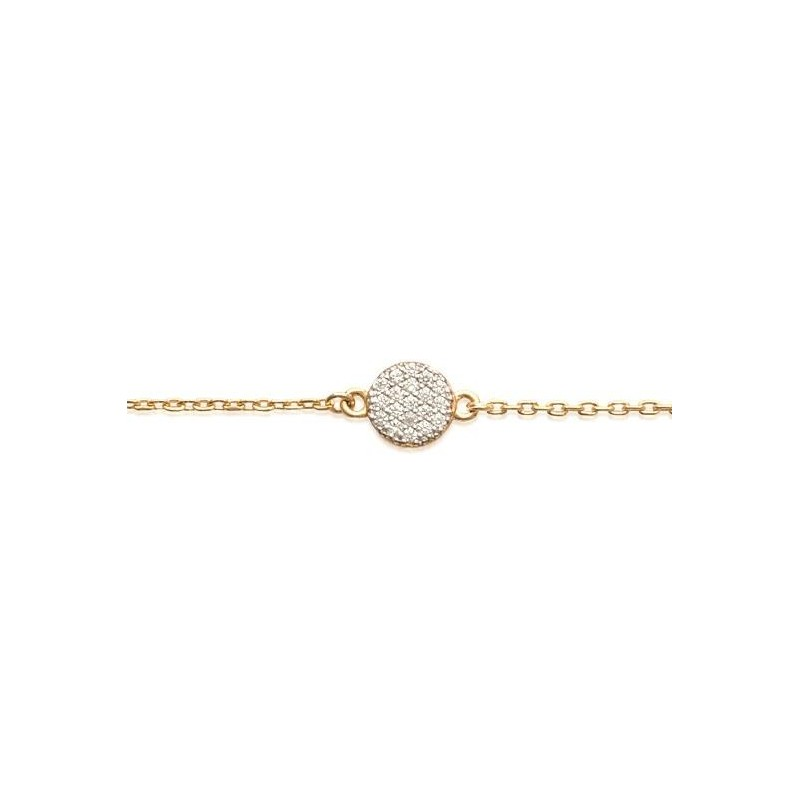Bracelet pour femme en plaqué or et zircon, Lara