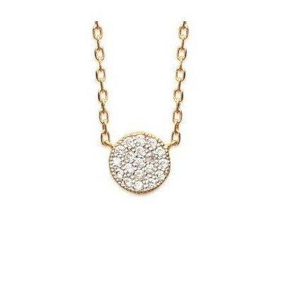 Collier en plaqué or et zircon pour femme - Lara - Lyn&Or Bijoux