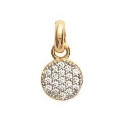 Pendentif en plaqué or et oxyde zirconium pour femme - Lara - Lyn&Or Bijoux