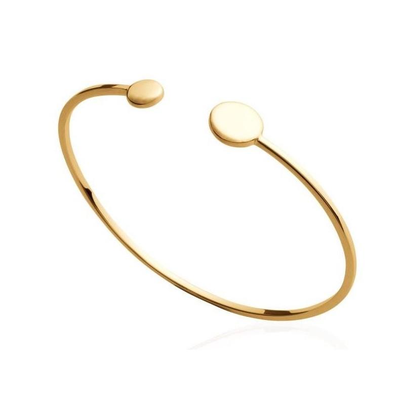Bracelet Jonc pour femme en plaqué or, Adalia