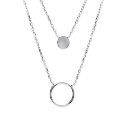 Collier pour femme en argent rhodié - Alliance - Lyn&Or Bijoux