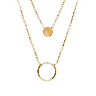 Collier plaqué or jaune 18 carats pour femme, Alliance