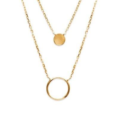 Collier créateur pour femme en plaqué or - Alliance - Lyn&Or Bijoux