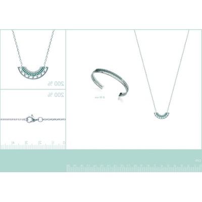 Bracelet Jonc en argent rhodié et pierre turquoise, Dona