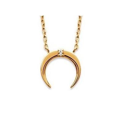 Collier pour femme en plaqué or et zircon, Léna