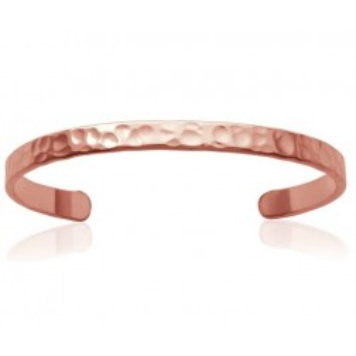 Bracelet Jonc en plaqué or rose frappé, Tijuana