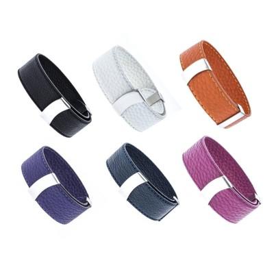 Bracelet Cuir modulable Odena pour femme - 2cm - Lyn&Or Bijoux
