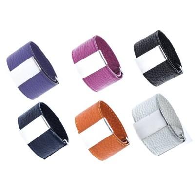 Bracelet manchette en Cuir modulable Odena pour femme - 3cm - Lyn&Or Bijoux
