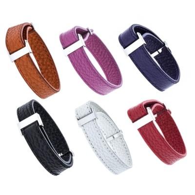 Bracelet en cuir pour femme, couleur amovible, Odéna 1 cm