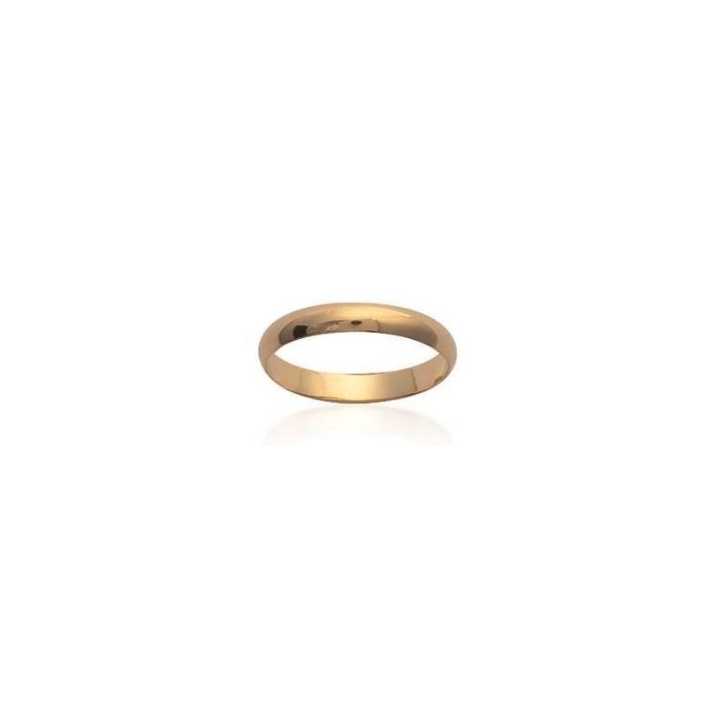 Alliance homme & femme en plaqué or jaune, 3 mm - Simplicity - Lyn&Or Bijoux