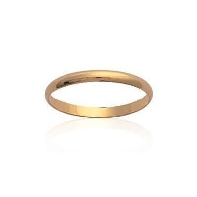 Alliance en plaqué or 2 mm pour femme - One Simplicity