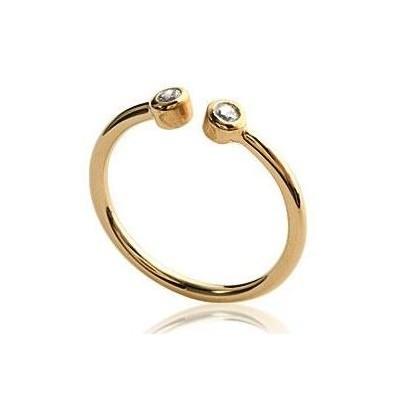 Bague en plaqué or et zircon pour femme - Melo - Lyn&Or Bijoux