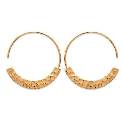 bijoux tendance pour femme - boucles d'oreilles créoles en plaqué or