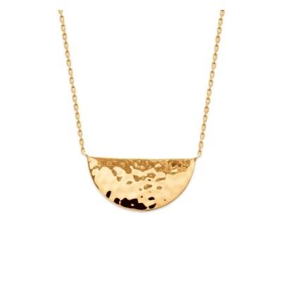 Collier demi-cercle en plaqué or martelé GM pour femme