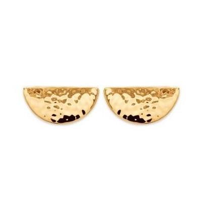 Boucles d'oreilles en plaqué or martelé pour femme - Simona - Lyn&Or Bijoux
