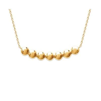 Collier avec pectoral perlé en plaqué or pour femme