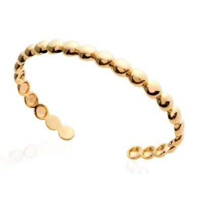 Bracelet Jonc perlé en plaqué or pour femme