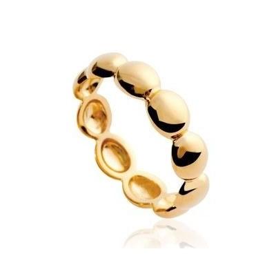 Bague perlée en plaqué or pour femme