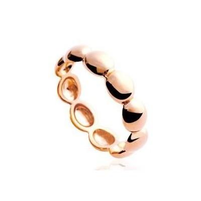 Bague femme en plaqué or rose, anneau de perles rosées - Solia - Lyn&Or Bijoux
