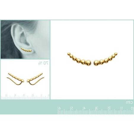 Contours d'oreilles en plaqué or - Boucles d'oreilles Femme