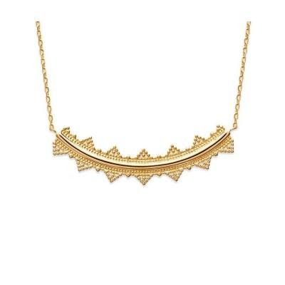 Collier pectoral en plaqué or pour femme